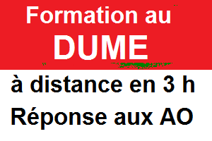 Formation au DUME à distance